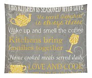 This Kitchen Is Seasoned With Love Tapestry
