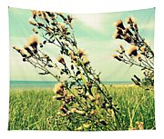 Thistle On The Beach  Tapestry