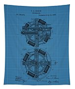 Thomas Edison Blueprint Phonograph Tapestry