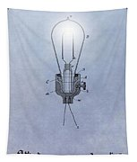 Thomas Edison Electric Lamp Patent Tapestry