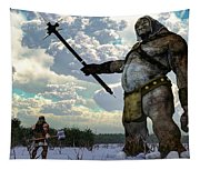 Thor And The Frost Giant Tapestry