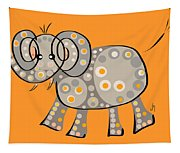 Thoughts And Colors Series Elephant Tapestry