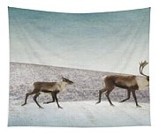 Three Caribous Tapestry