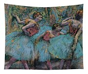 Three Dancers.blue Tutus Red Bodices Tapestry
