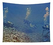 Three Divers In Hawaii Tapestry