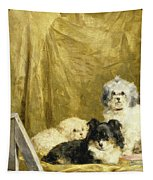 Three Dogs Tapestry