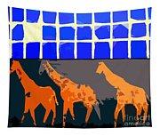 Three Giraffes Tapestry