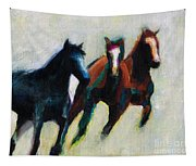 Three Horses On The Diagonal Tapestry