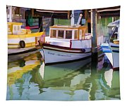 Three Little Boats Tapestry