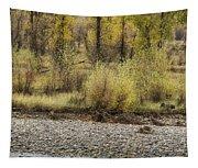 Three Moose Resting Tapestry