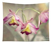 Three Orchid Beauties Tapestry