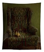 Three Pears Sitting In A Wing Chair Tapestry