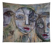 Three Portraits On Paper Tapestry