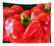 Three Red Peppers Tapestry