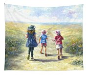Three Sisters Beach Path Tapestry