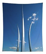 Three Soaring Spires Of Air Force Tapestry
