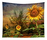 Three Sunflowers Tapestry