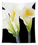 Three Tall Calla Lilies Tapestry