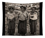 Three Women In Atitlan Tapestry