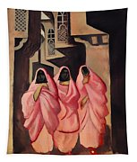 Three Women On The Street Of Baghdad Tapestry