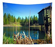 Through The Reeds At Grace Lake Tapestry