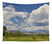 Thunderstorm Clouds Boiling Over The Colorado Rocky Mountains Tapestry