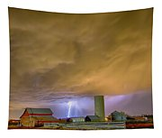 Thunderstorm Hunkering Down On The Farm Tapestry