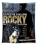 Tibetan Mastiff Art Canvas Print - Rocky Movie Poster Tapestry