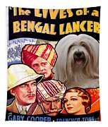 Tibetan Terrier Art - The Lives Of A Bengal Lancer Movie Poster Tapestry