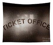 Ticket Office Window Tapestry