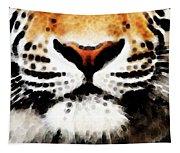 Tiger Art - Burning Bright Tapestry