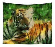 Tiger Resting Photo Art 03 Tapestry