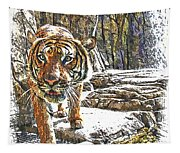 Tiger View Tapestry