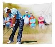 Tiger Woods - The British Open Golf Championship Tapestry