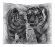 Tigers Photo Art 01 Tapestry
