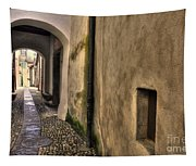 Tight Alley With Arch Tapestry