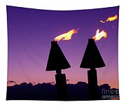 Tiki Torches Tapestry