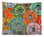 Tiled Swirls Tapestry