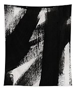 Timber- Vertical Abstract Black And White Painting Tapestry