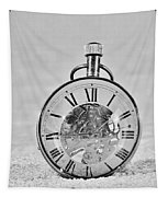 Time In The Sand In Black And White Tapestry