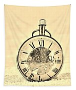 Time In The Sand In Sepia Tapestry