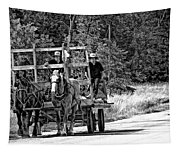 Time Travelers Bw Tapestry