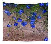 Tiny Blue Flowers Tapestry