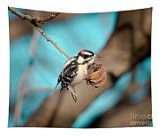 Tiny Downy On Hickory Nut Tapestry