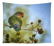 To Love A Lovebird Tapestry