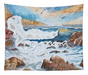 To Rough For Fishing Tapestry