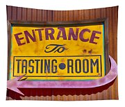 To The Tasting Room Tapestry