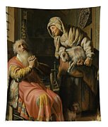 Tobit And Anna With The Kid Tapestry