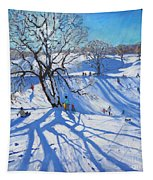 Tobogganers  Chatsworth Tapestry by Andrew Macara