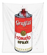 Tomato Spray Can Tapestry by Gary Grayson